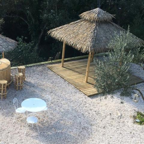 Abri spa - abri pour spa - abris bambou - Abri spa bambou - kiosque bambou- Gazebo spa - hydile