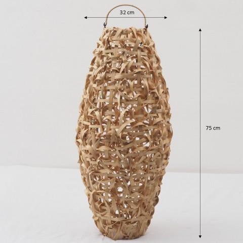 Lustre bambou - Suspension bambou - Abat-jour bambou - suspension luminaire bambou - Hydile