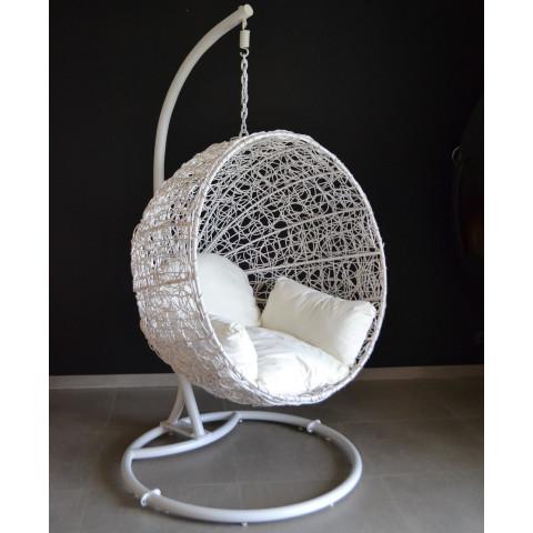 Fauteuil en rotin suspendu, bulle rotin- Coussin  et chaîne compris - HYDILE bambou et rotin