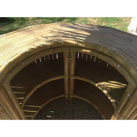 Bar d'été en bambou de type paillote