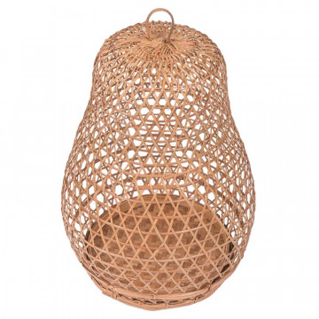 Lanterne bambou - cloque bambou - lampe bambou - suspension bambou - cage à coq