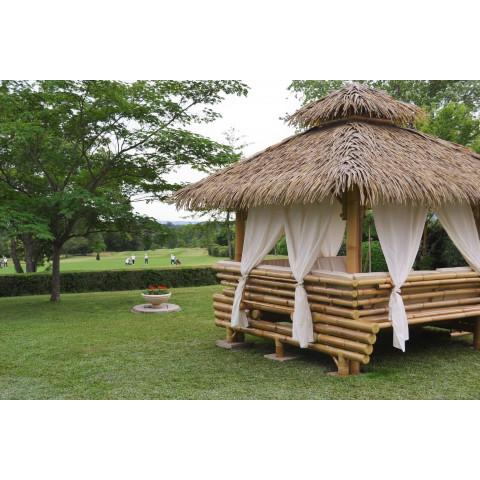 Gazebo en bambou -  gazebo bambou - paillote bambou - paillote - pergola - paillote de plage - salon de jardin - Hydile