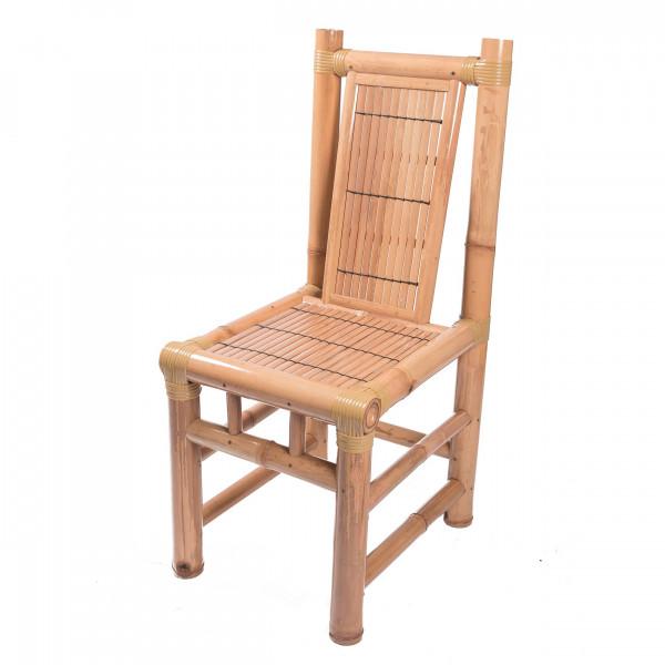 chaise en bambou - chaise naturelle - chaise de salon - chaise bambou - assise bambou - hydile