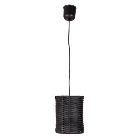 Suspension rotin - luminaire rotin - suspension en rotin noir - petite suspension - lampe rotin  - Hydile