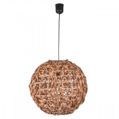 Suspension bambou - Suspension ronde bambou - suspension bambou torsadé - luminaire bambou - lampe à suspendre bambou - hydile