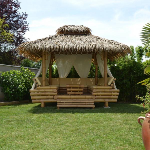 Salon De Jardin Asiatique gazebo bambou ou paillote bambou, salon de jardin, pergola