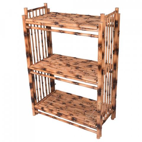 Etagère en bambou pour chambre - Étagère rangement - Étagère de rangement bambou - Étagère pliable et légère - Hydile