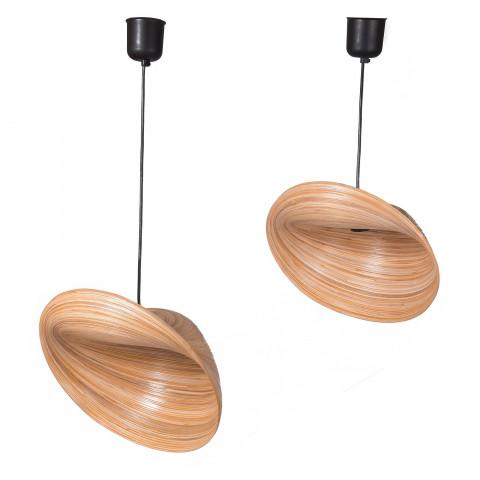 Suspension bambou - suspension électrifiée - luminaire bambou - lampe design - lampe à suspendre