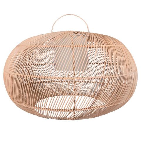Lampe de salon - lampe design rotin - lustre de salon - lustre salle à manger - lustre rotin - lampe rotin