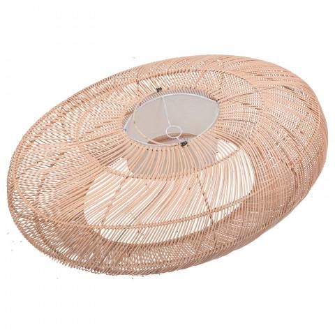 Grande suspension en rotin - lampe à suspendre rotin - deco rotin - lustre rotin - bungalow suspension rotin - Hydile