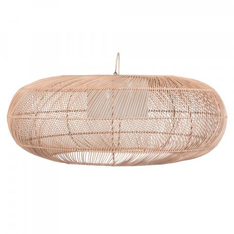 Grande suspension en rotin - lampe à suspendre rotin - Suspension ovale rotin - lustre rotin - bungalow suspension - Hydile