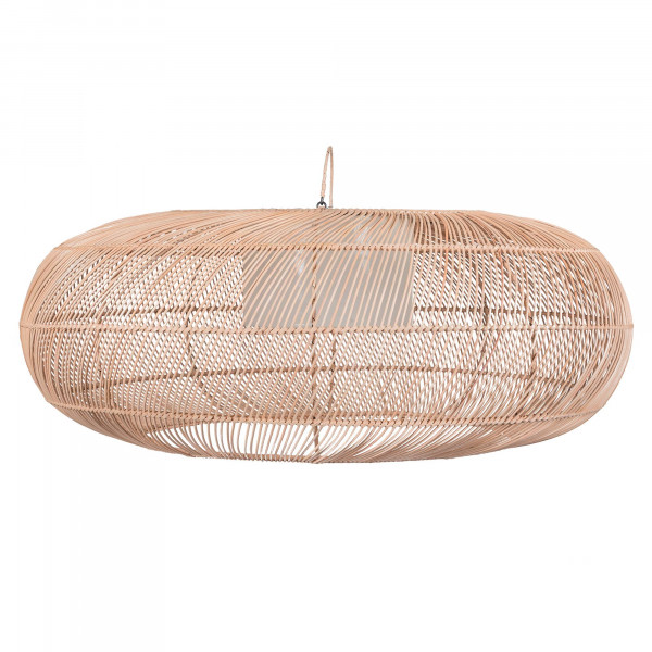 Grande suspension en rotin - lampe à suspendre rotin - Suspension ovale rotin - lustre rotin - bungalow suspension - Hydile