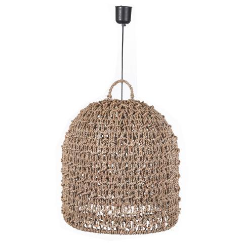 Suspension naturelle - grosse suspension en jonc de mer -  suspension de style bohème - luminaire bohème chic-Hydile