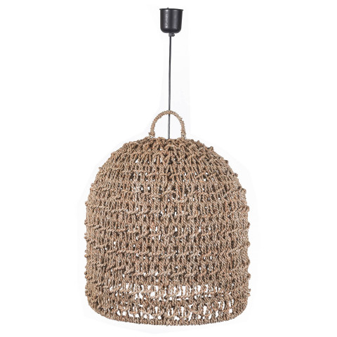 Suspension naturelle - grosse suspension en jonc de mer -  suspension de style bohème - luminaire bohème chic-Hydile