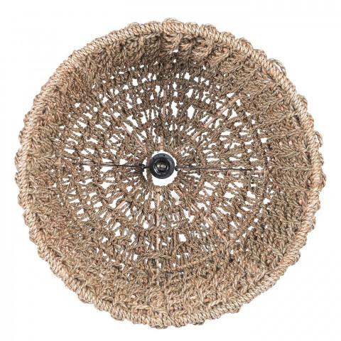 Intérieur du luminaire - Jonc de mer - fibre naturelle  - luminaire design et naturel - hydile