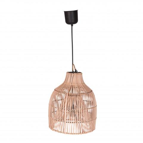 Suspension rotin - petite suspension en rotin -lampe en rotin - abat-jour rotin- suspension électrifiée rotin
