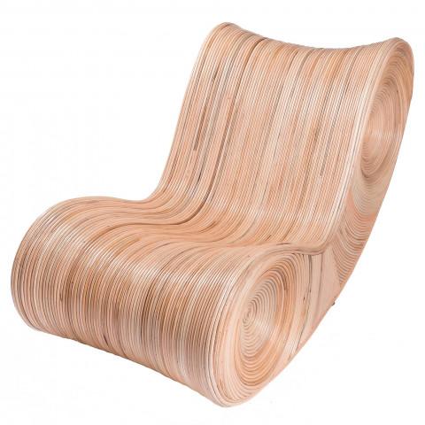Fauteuil allongé en rotin - fauteuil design rotin - chaise en rotin - assise en rotin - mobilier de jardin rotin - transat rotin