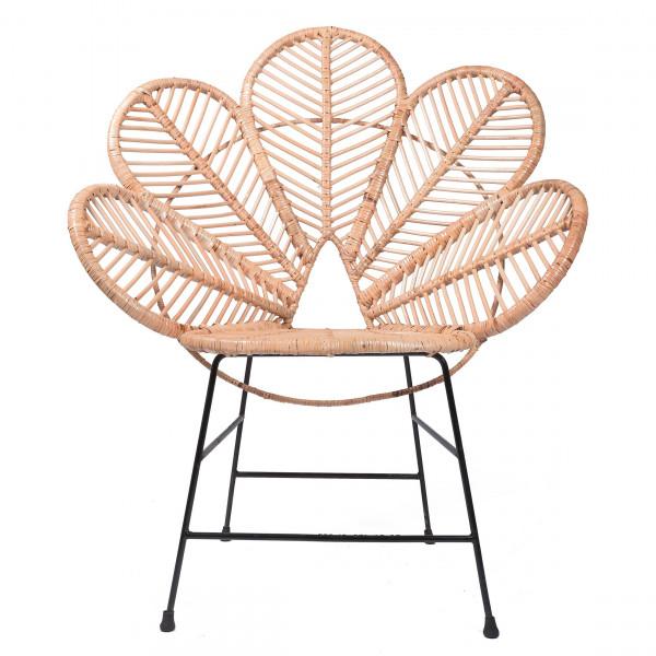 Chaise en rotin et metal - Chaise Coquelicot - fauteuil fleur - hydile