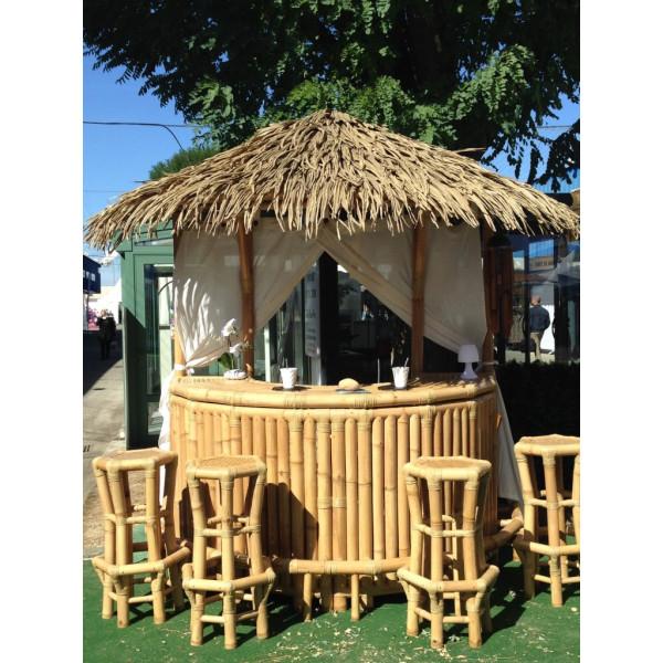 Bar extérieur - Bambou bar - Bar en paillote - Bar en bambou - Hydile.
