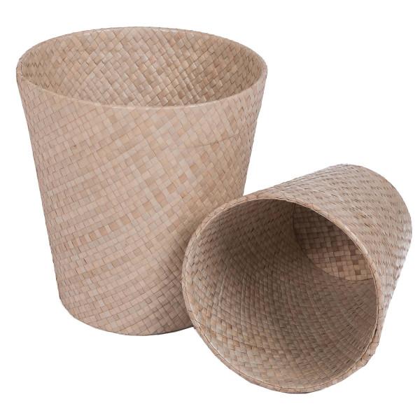 Cache pot - corbeille - corbeille bambou - corbeille à papier - corbeille tressée - hydile