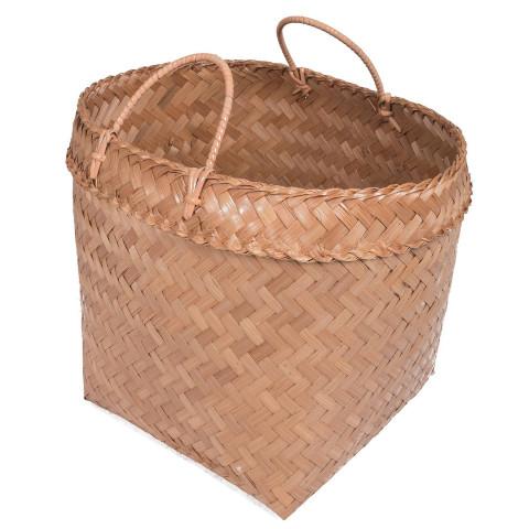 panier tressé - panier de rangement - panier bambou - panier fibre végétal - panier déco - Hydile