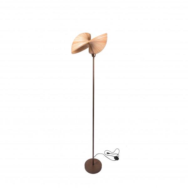 Lampe sur pied - lampe à poser - luminaire bambou - lampe design - lampe métal - lampadaire - décoration bambou - Hydile