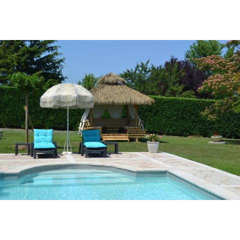 Salon de jardin bambou - pergola bambou - gazebo bambou - paillote bambou - bambou gazebo