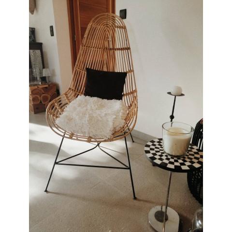 Fauteuil rotin - Fauteuil allongé - chaise rotin - deco rotin - fauteuil métal - Hydile - chaise longue rotin