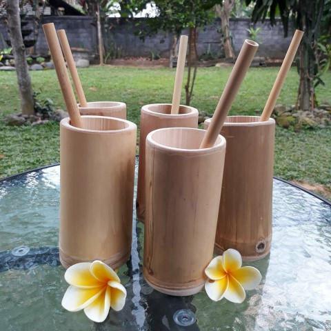 Verre en bambou - verre en bambou naturel - pot en bambou - pot à brosse à dent en bambou