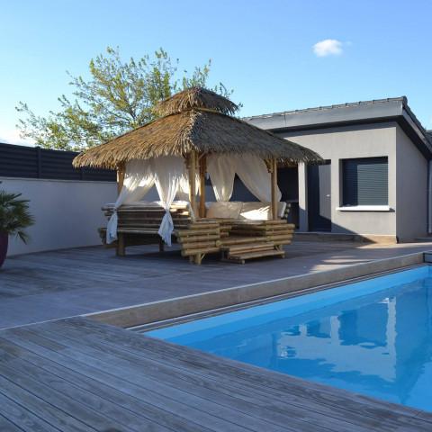 Gazebo bambou - gazebos - gazebo - paillote - paillote bambou - abris - jardin - terrasse - salon de jardin - hydile
