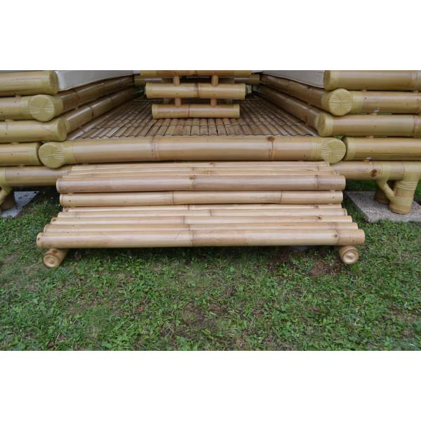 Escalier bambou - marche bambou - escalier pour gazebo - escalier en bambou pour gazebo - escalier pour paillote bambou