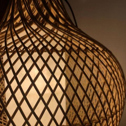 Decoration rotin - déco rotin - ambiance bohème - idée lampes - idées suspension en rotin