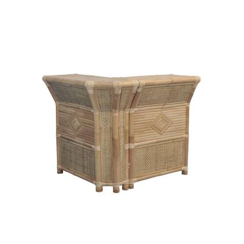 Bar en bambou - bar d'angle en bambou - bar en bambou d'angle- paillote bambou - bar paillote