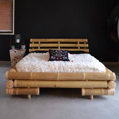 Lit bambou - Lit en bambou - lit futon bambou - lit en bambou pas cher - lit double bambou - lit bambou 160