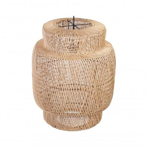 Suspension électrifiée en rotin - suspension en rotin - lampe en rotin - Lampe à suspendre rotin