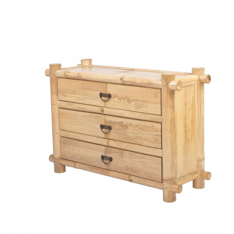 commode bambou - placard bambou - dressing - rangement meuble - meubles bambou - Hydile