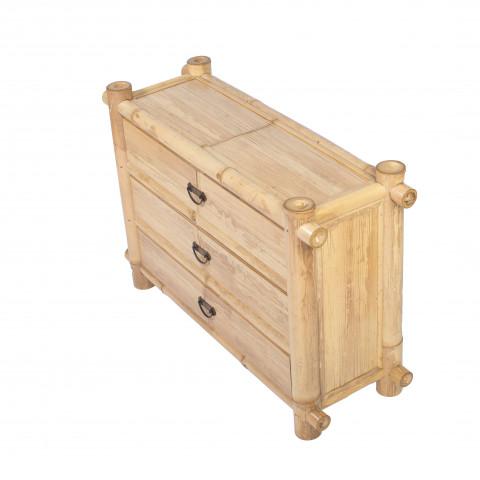 Commode bambou - chevet bambou - commode bambou MADE - commode bambou hydile - rangement bambou