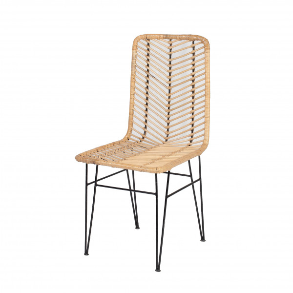Chaise de salon rotin - chaise de salon rotin et métal - chaise rotin - chaise en rotin - chaise rotin ATO