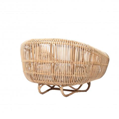 Fauteuil en rotin naturel - fauteuil rotin - chaise rotin -assise en rotin - fauteuil élégant rotin