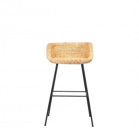 Tabouret de bar abaca - tabouret de bar métal - tabouret de bar rotin - chaise de bar - chaise de bar abaca - HYDILE