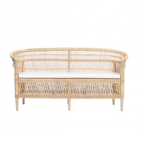 canapé en rotin - canapé fauteuil rotin - canapé en rotin pour salon - Hydile - ILIOS