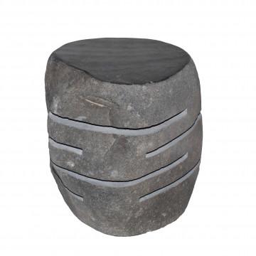 Lampe de jardin en pierre - éclairage jardin en pierre - pierre décoration - éclairage en pierre - lampe sculpté en pierre