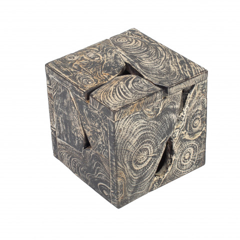 Cube en bois- petit cube en bois - cube en bois déco - gueridon bois - guéridon en bois - objet déco bois