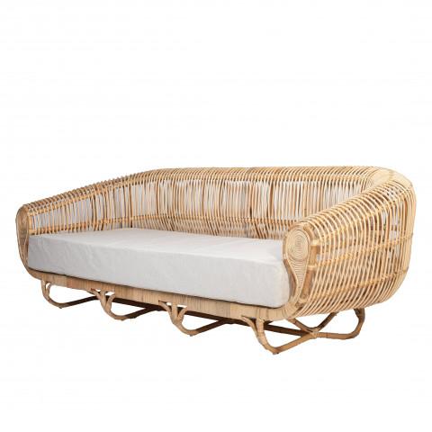 Canapé rotin - canapé en rotin design - Grand canapé en rotin- HYDE canapé - Hydile