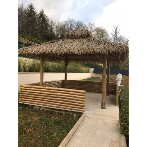 Toiture bambou - abri bambou - kiosque bambou - paillote bambou -pergola bambou